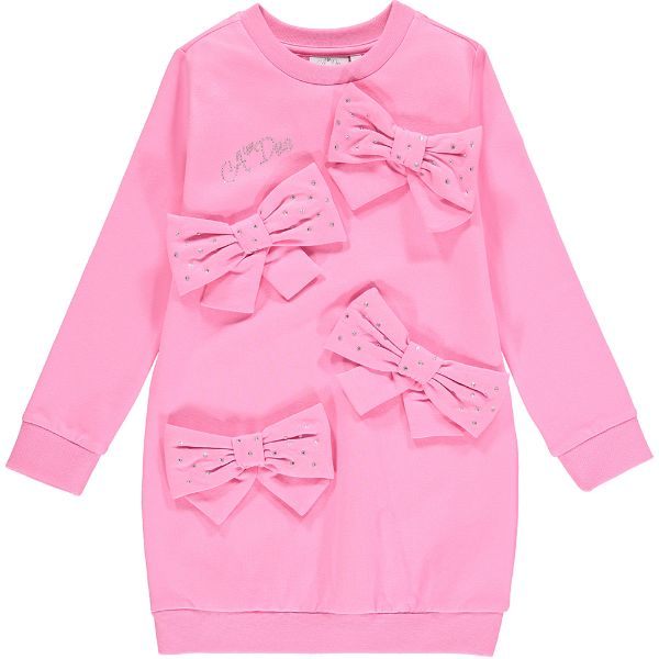 Picture of Ariana Dee Girls 'Penny' Pink Bow Dress