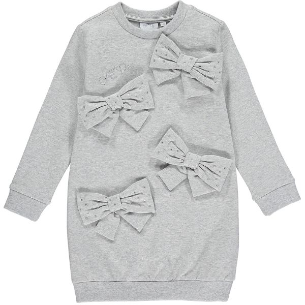 Picture of Ariana Dee Girls 'Penny' Grey Bow Dress