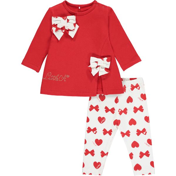 Picture of Little A Baby Girls 'Brianna' Bows & Hearts Leggings Set