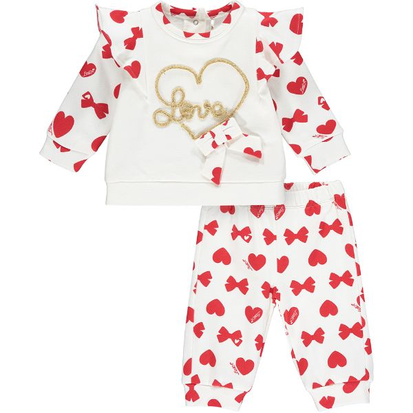 Picture of Little A Baby Girls 'Bailey' Bows & Hearts Tracksuit