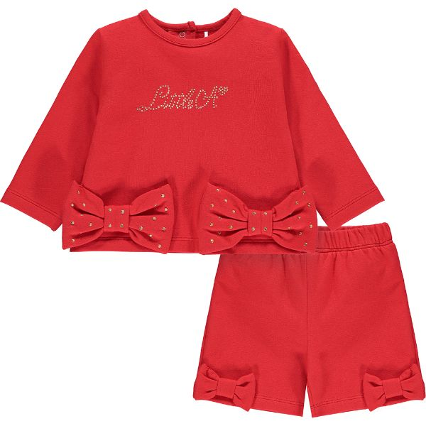 Picture of Little A Baby Girls 'Blake' Red Short Suit Set