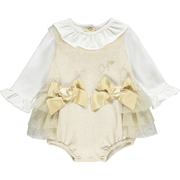 Picture of Little A Baby Girls 'Bernie' Gold Romper