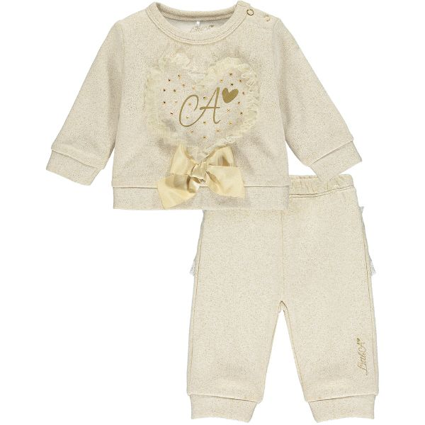 Picture of Little A Baby Girls 'Brooek' Gold Tracksuit