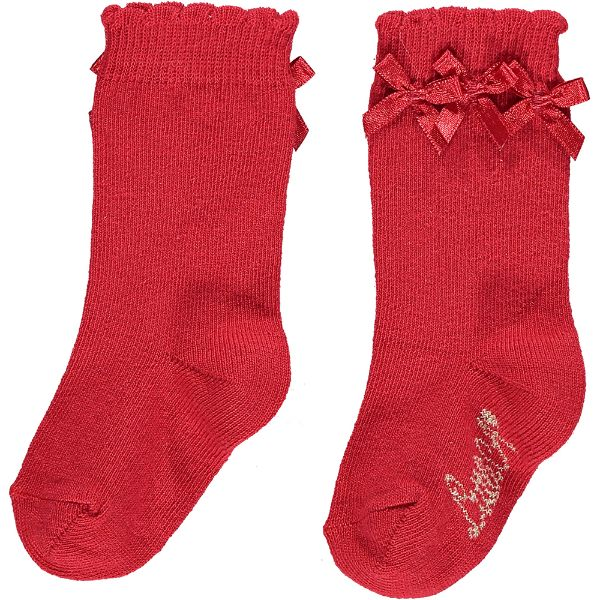 Picture of Little A Baby Girl Red Knee Socks