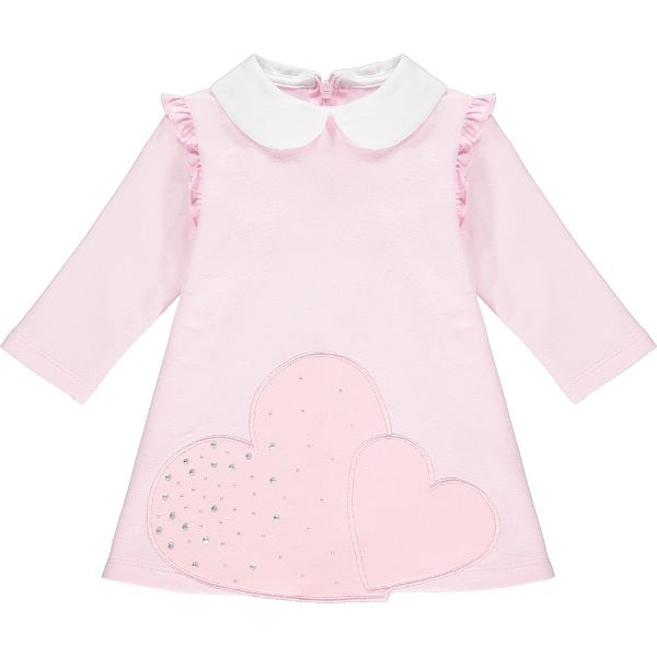 Picture of Little A Baby Girl 'Arlene' Baby Pink Heart Dress
