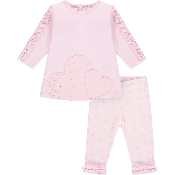 Picture of Little A Baby Girls 'Athena' Pink Heart Leggings Set
