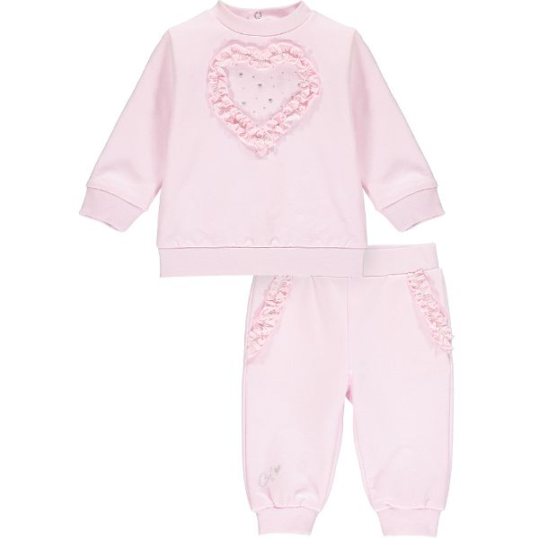 Picture of Little A Baby Girls 'Anna' Pink Heart Tracksuit