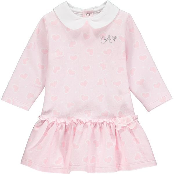 Picture of Little A Baby Girl 'Augustina' Pink Heart Dress