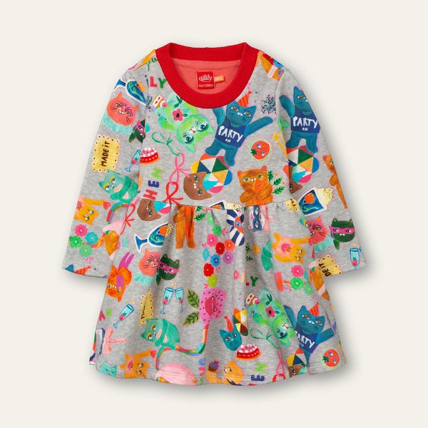 Picture of Oilily Girls 'Dum' Grey Jumper Dress