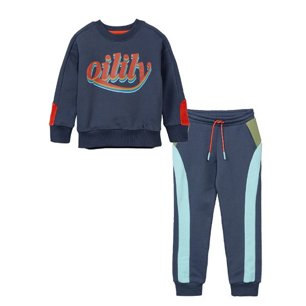 Picture of Oilily Boys Blue Logo Tracksuit