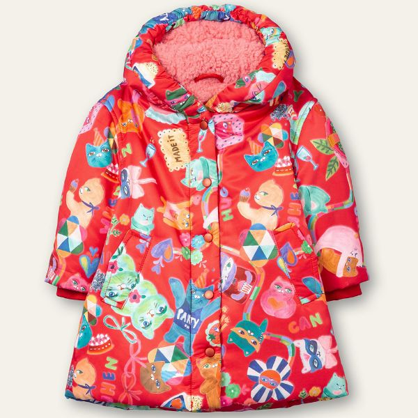 Picture of Oilily Girls 'Cakey' Red Print Coat