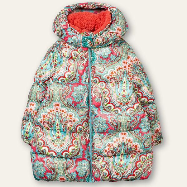 Picture of Oilily Girls 'Chum' Green Print Coat
