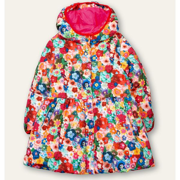 Picture of Oilily Girls 'Cousin' Red Print Coat