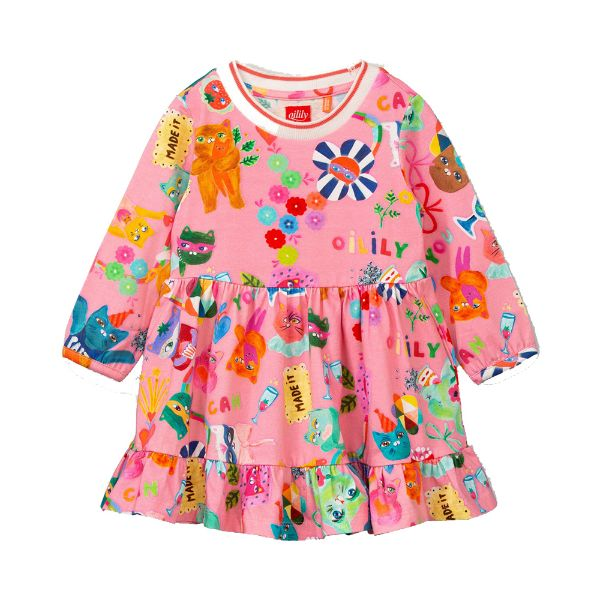 Picture of Oilily Girls 'Dartel' Pink Jersey Dress