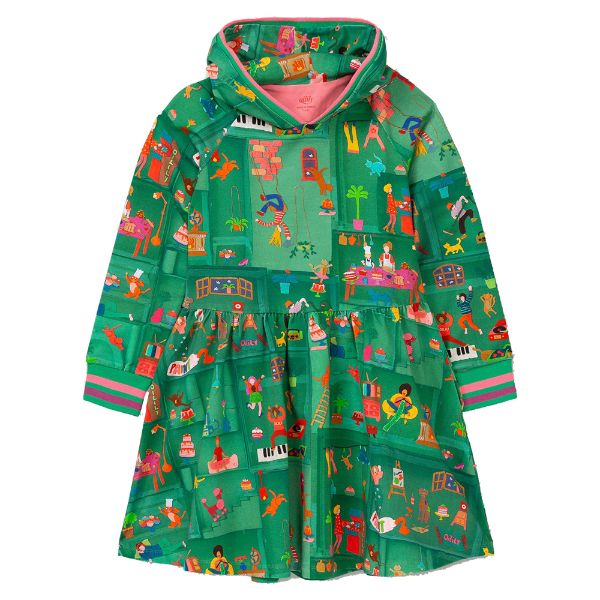 Picture of Oilily Girls 'Dynamic' Green Jersey Dress