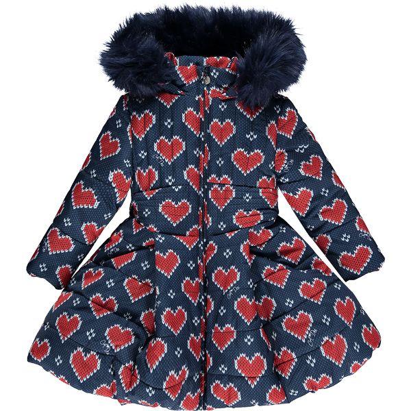 Picture of Ariana Dee Girls 'Raegan' Heart Printed Coat