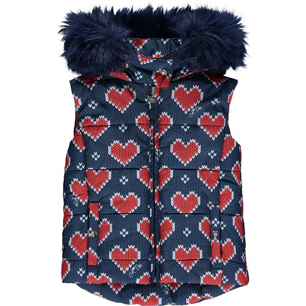 Picture of Ariana Dee Girls 'Rose' Heart Print Gilet