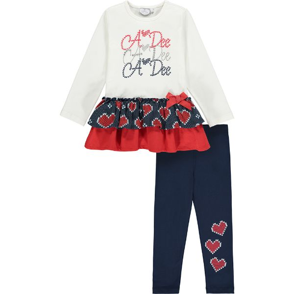 Picture of Ariana Dee Girls 'Ruth' Logo Tier Leggings Set