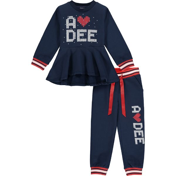 Picture of Ariana Dee Girls 'Royalty' Navy Heart Tracksuit