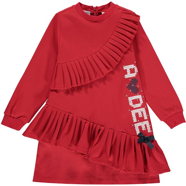 Picture of Ariana Dee Girls 'Rosemary' Red Logo Jumper Dress