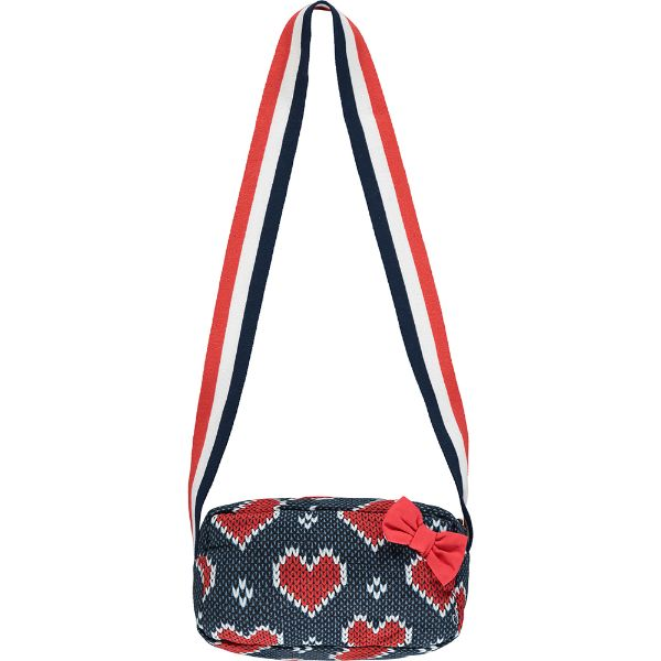 Picture of Ariana Dee Girls Navy Heart Bag
