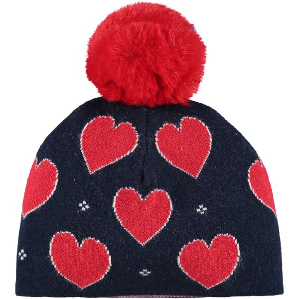 Picture of Ariana Dee Girls Navy Heart Knitted Hat