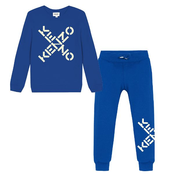 Picture of Kenzo Boys Blue Logo Tracksuit