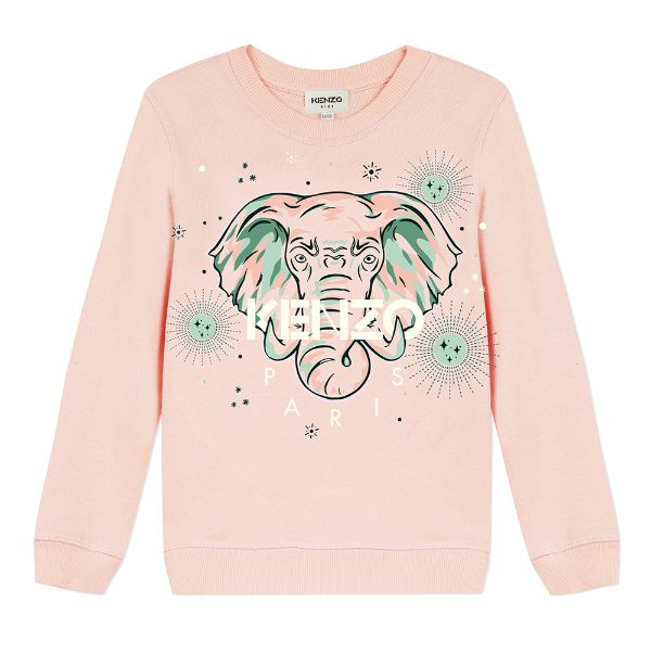 Picture of Kenzo Girls Pink Tiger Jumper