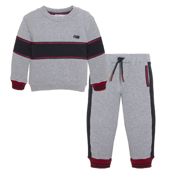 Picture of Patachou Boys Grey & Navy Tracksuit