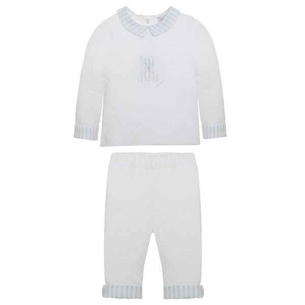 Picture of Patachou Baby Boys White Teddy Tracksuit