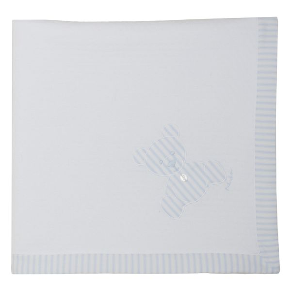 Picture of Patachou Baby Boys White Teddy Blanket