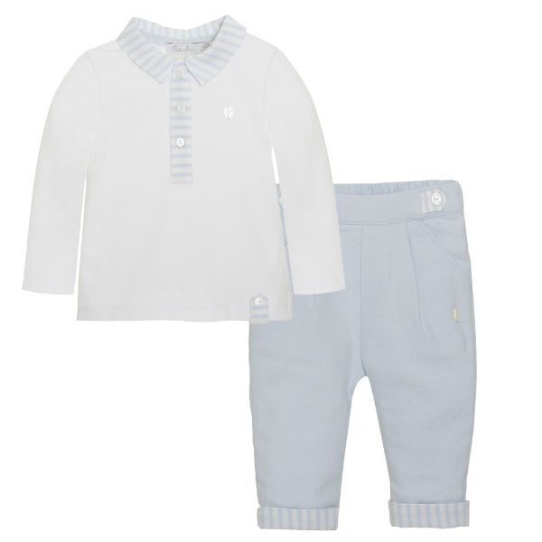 Picture of Patachou Baby Boys Polo & Pants Set