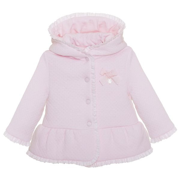 Picture of Patachou Baby Girls Pink Quilted Coat