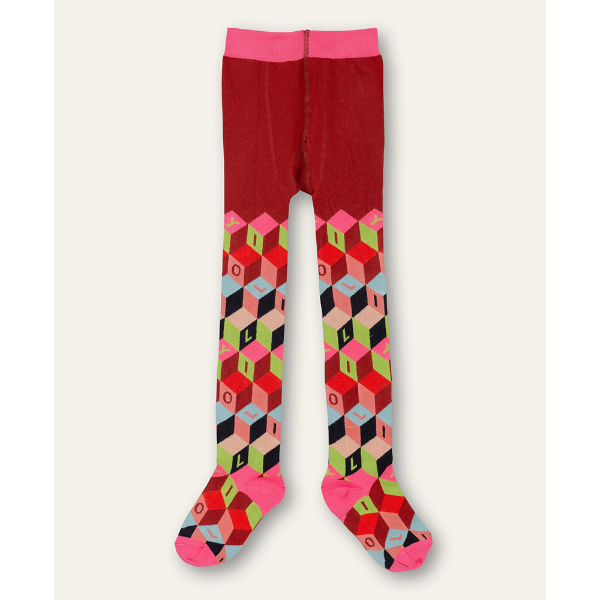 Picture of Oilily Girls Moosh Red Printed Tights
