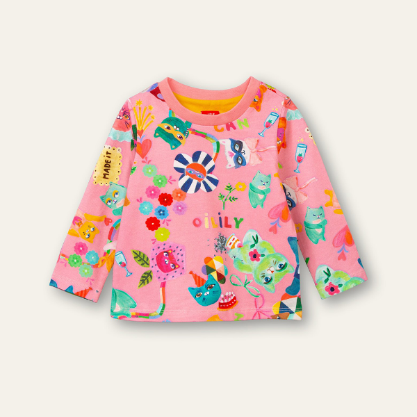Picture of Oilily Girls Tolsy Pink Printed Top