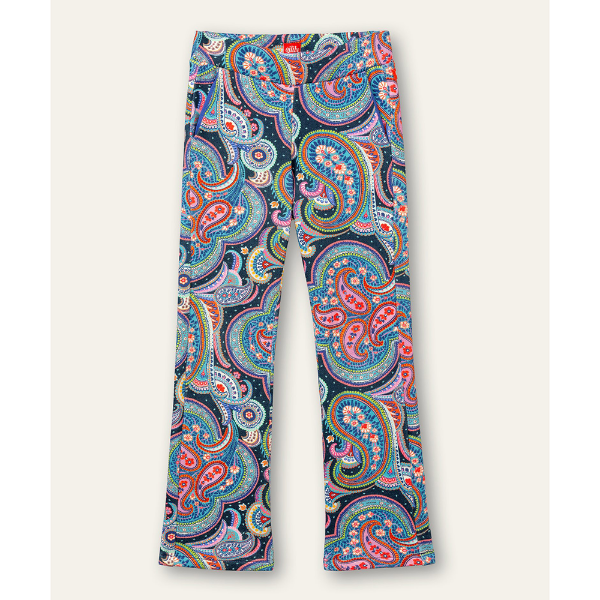 Picture of Oilily Girls Pina Blue Printed Pants