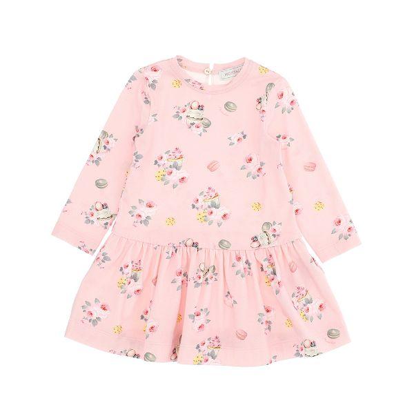 Picture of Monnalisa Baby Girls Pink Printed Dress