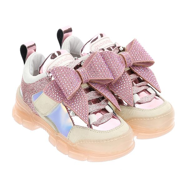 Picture of Monnalisa Girls Pink Trainers