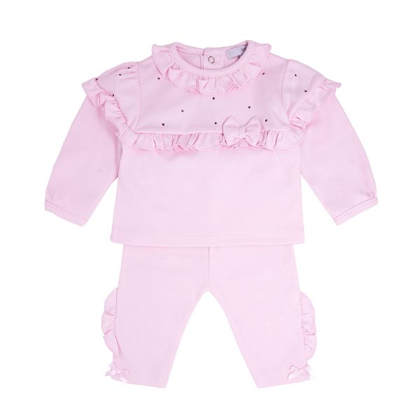 Picture of Blues Baby Girls Pink Bow Tracksuit