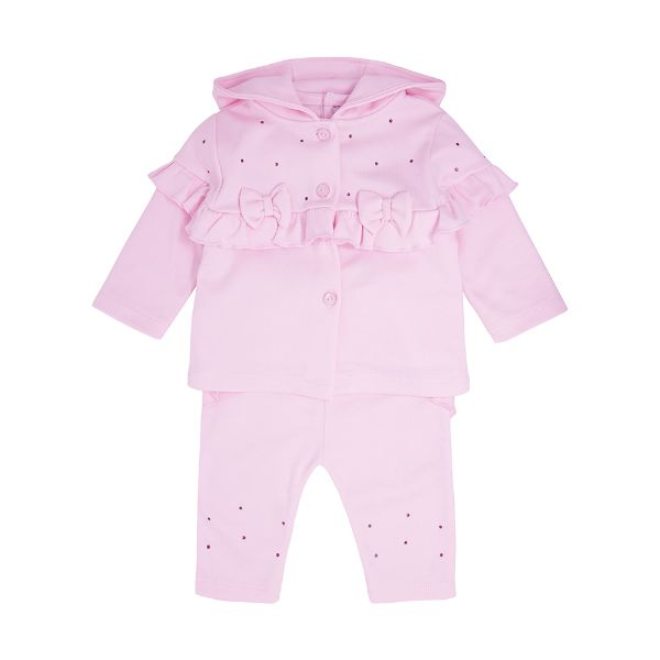 Picture of Blues Baby Girls Pink 3 Piece Bow Tracksuit