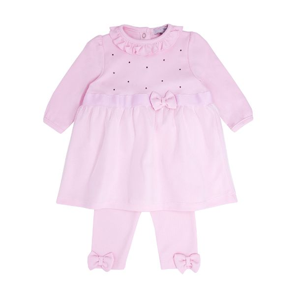 Picture of Blues Baby Girls Pink Bow Leggings Set