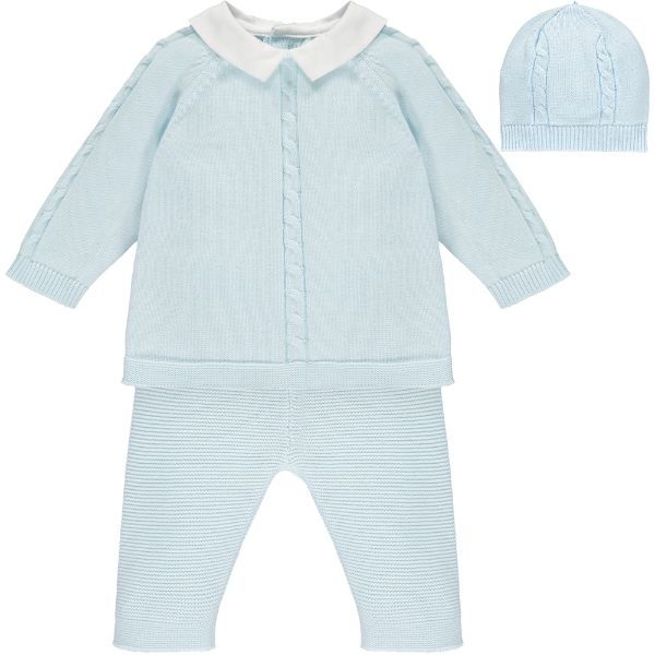 Picture of Emile Et Rose Baby Boys Blue Knitted Amos Set