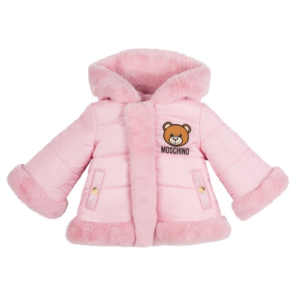 Picture of Moschino Baby Girls Pink Reversible Coat