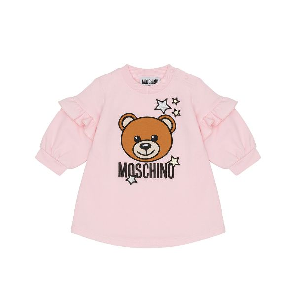 Picture of Moschino Baby Girls Pink Teddy Dress with Frill
