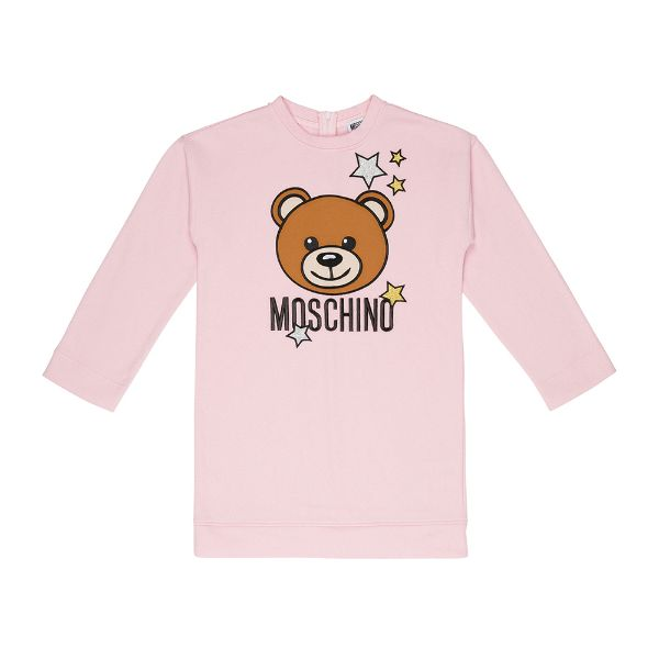 Picture of Moschino Girls Pink Teddy Star Dress