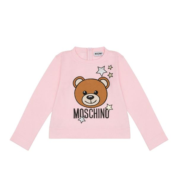 Picture of Moschino Girls Pink Teddy Star Jumper