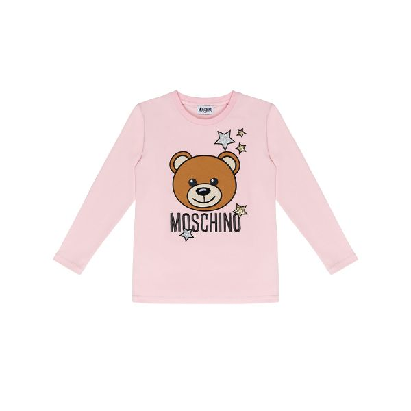 Picture of Moschino Girls Pink Teddy Star T-Shirt