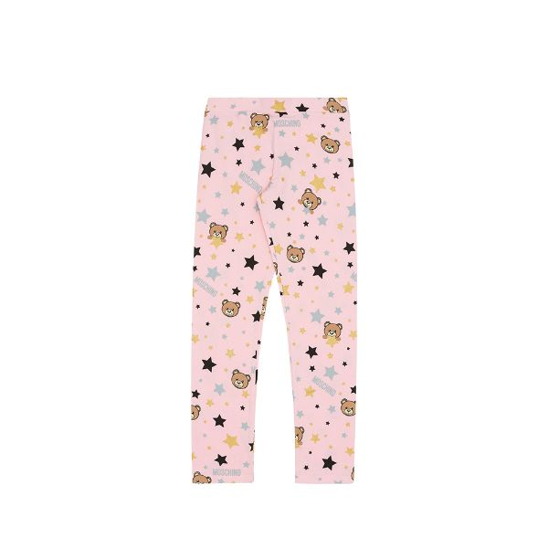Picture of Moschino Girls Pink Star Print Leggings