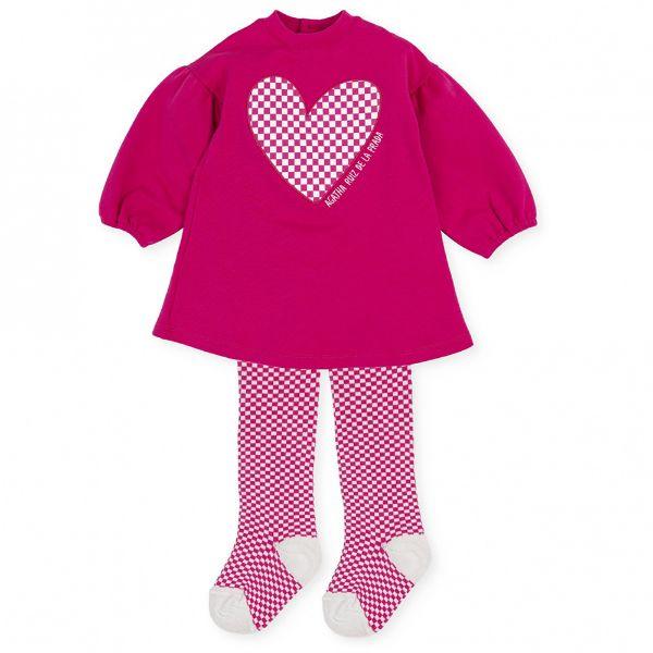 Picture of Agatha Ruiz De La Prada Baby Girls Pink Heart Jumper Dress
