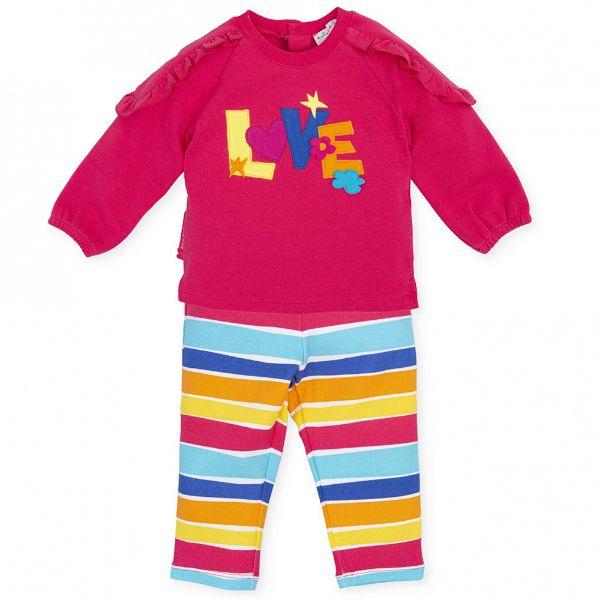 Picture of Agatha Ruiz De La Prada Baby Girls Pink & Striped Leggings Set
